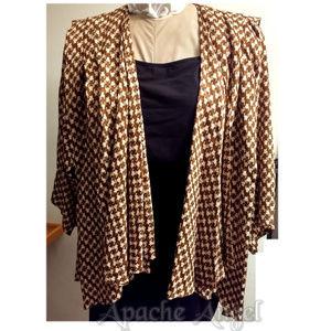 Nora Noh Silk Pleated 80's Jacket Blazer XL /XXXL